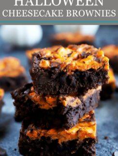 Halloween Cheesecake Brownies Pinterest graphic