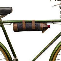 Repurposed Denim Bicycle Wine Caddy