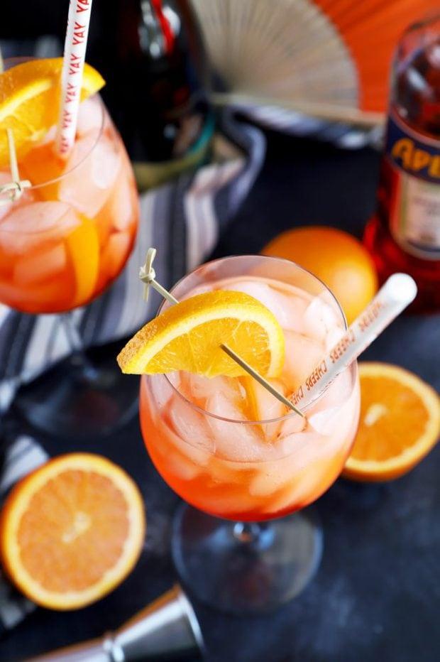 Italian cocktail garnished with orange slice