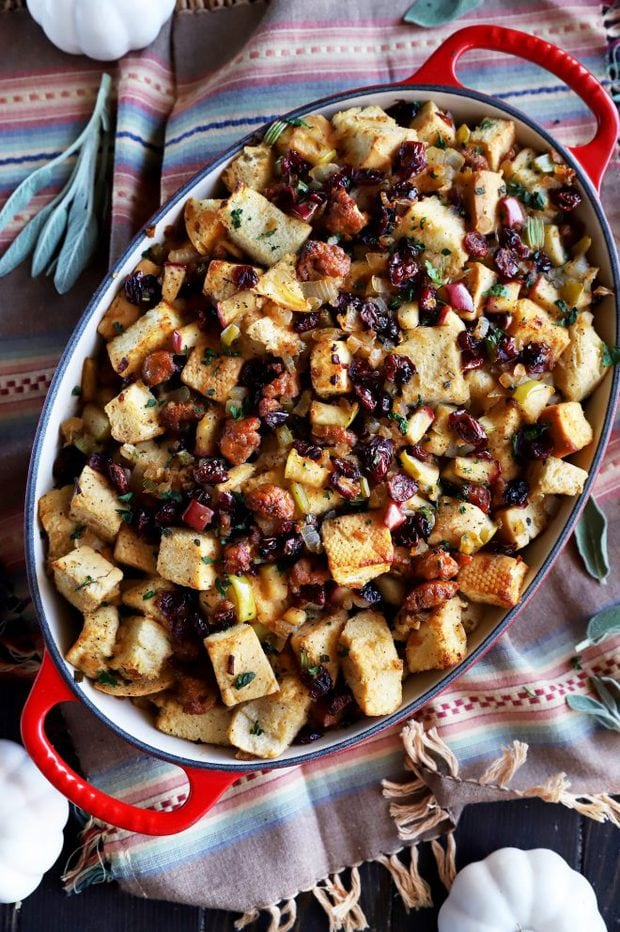 Stuffing photo in a baking dish