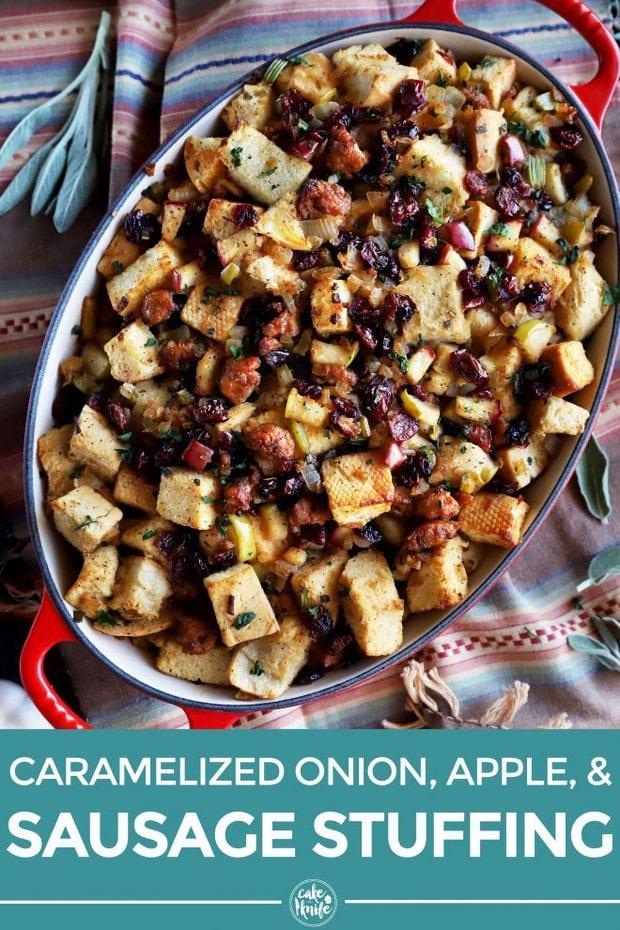 Sausage stuffing Pinterest image