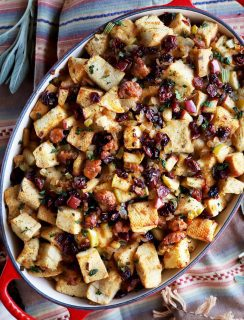 Caramelized Onion Apple and Sausage Stuffing Thumbnail
