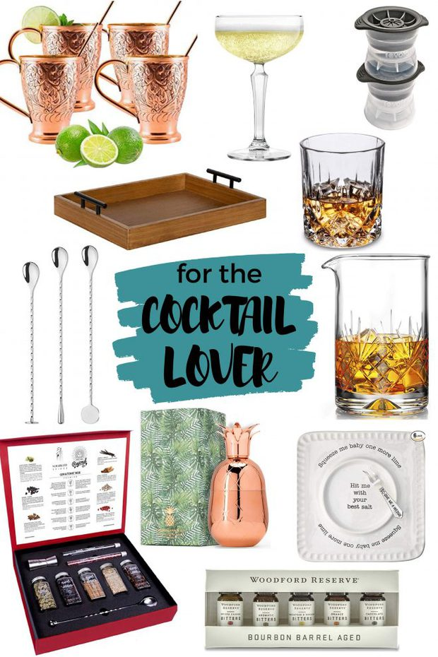 Cocktail Lover Holiday Gift Guide Pinterest Image