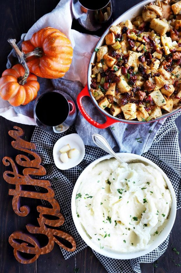 Thanksgiving day spread with Instant Pot