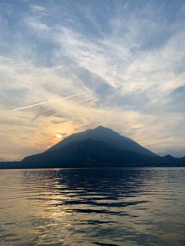 Photo of Lake Como at Sunset