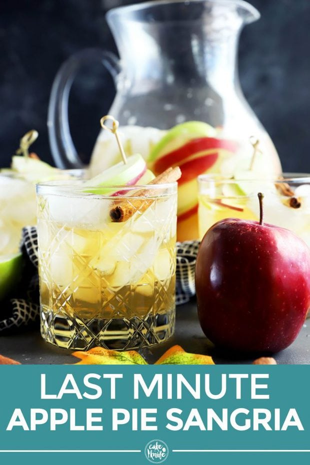 Pinterest image for last minute apple pie sangria