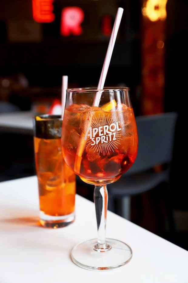 Aperol Spritz at Terrazo Aperol