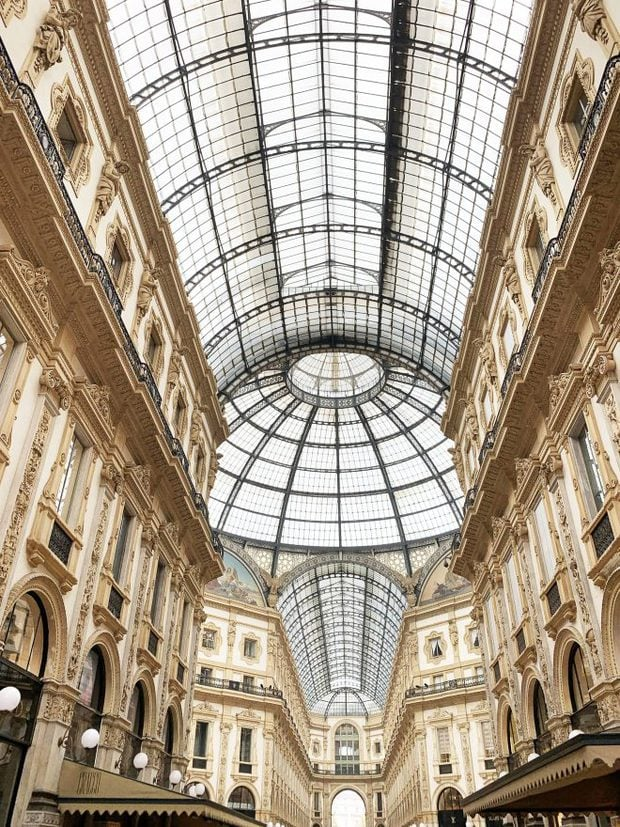 Covered shopping mall in Milan