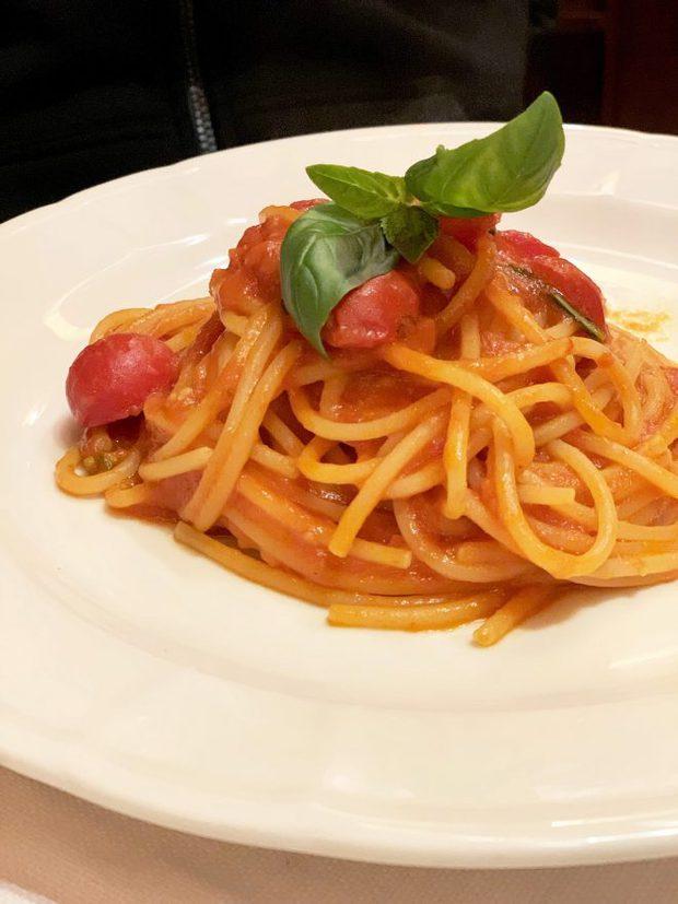 Pasta at La Libera in Milan Italy