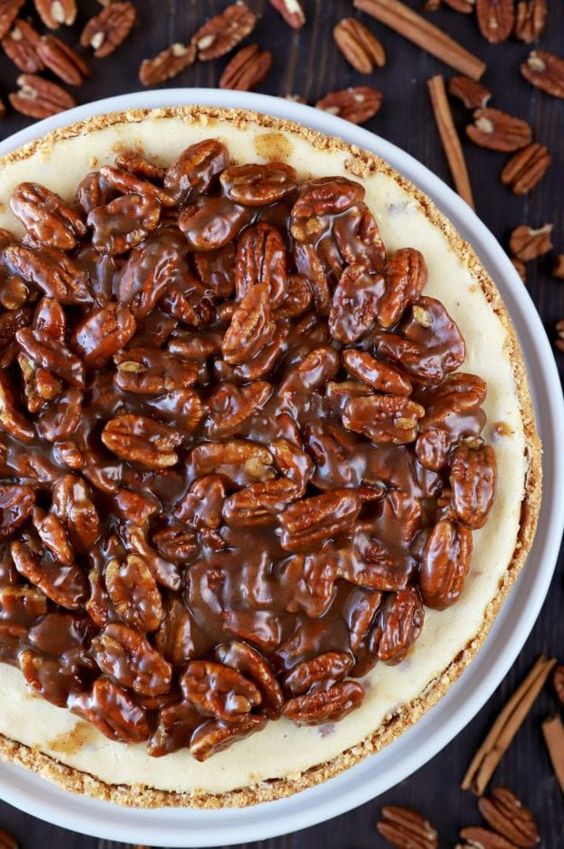 Photo of cheesecake with nuts