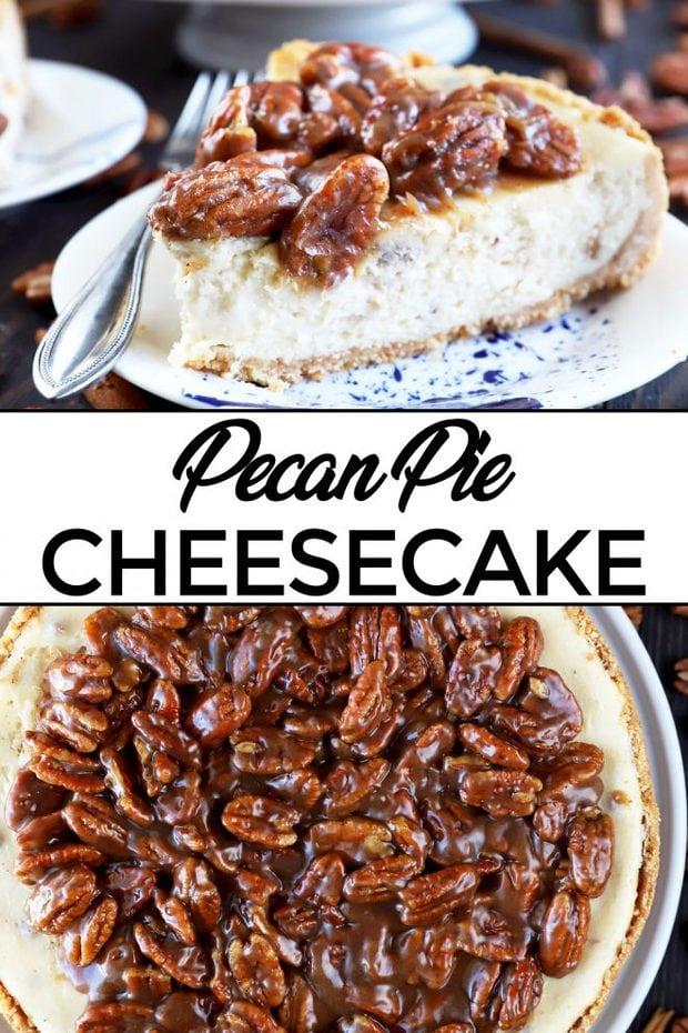 Pinterest Image for Pecan Pie Cheesecake