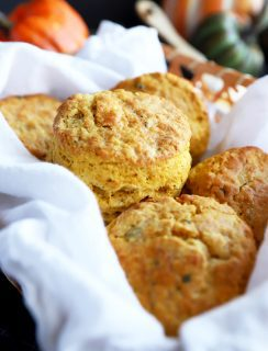 A basket of biscuits photograph