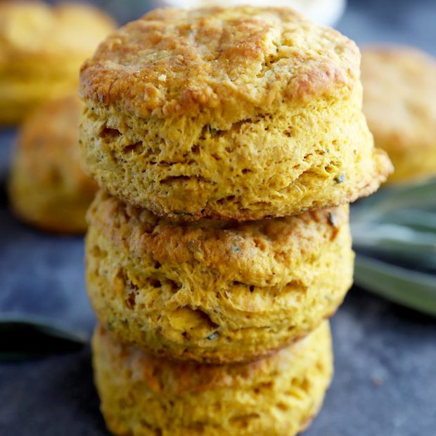 Pumpkin sage biscuits thumbnail image