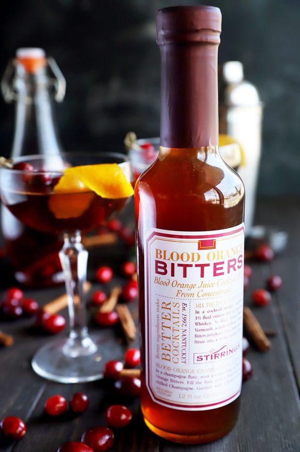 Stirrings blood orange bitters in a bottle
