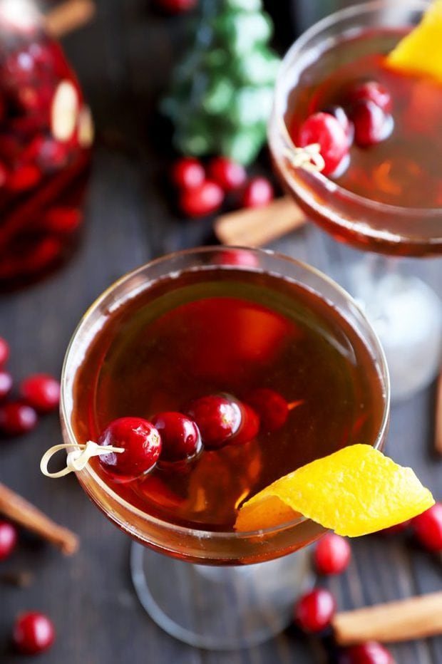 Fancy holiday cocktail photo