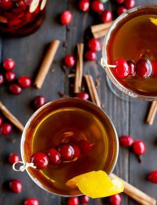 Cranberry spice Manhattan cocktail thumbnail image