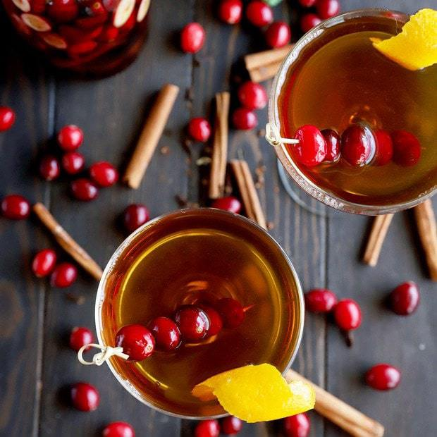 Cranberry spice Manhattan cocktail thumbnail image