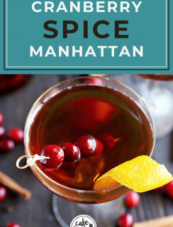 Pinterest image for Cranberry Spice Manhattan