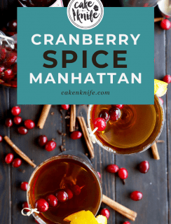 Pinterest image for Cranberry Spice Manhattan Cocktail