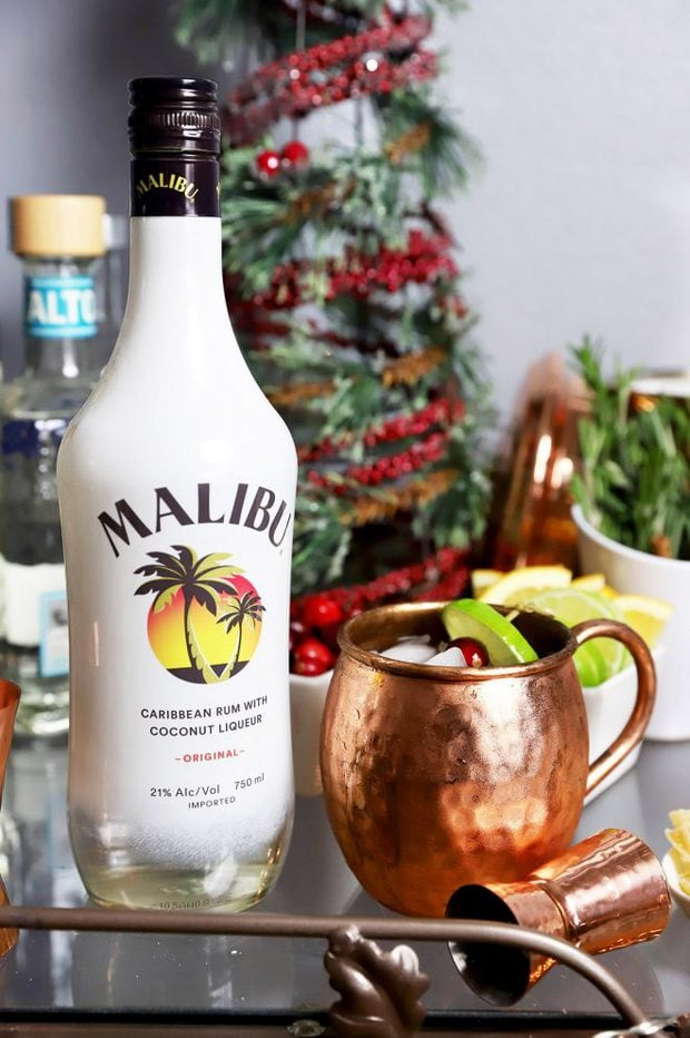 Tropical Moscow Mule with Malibu
