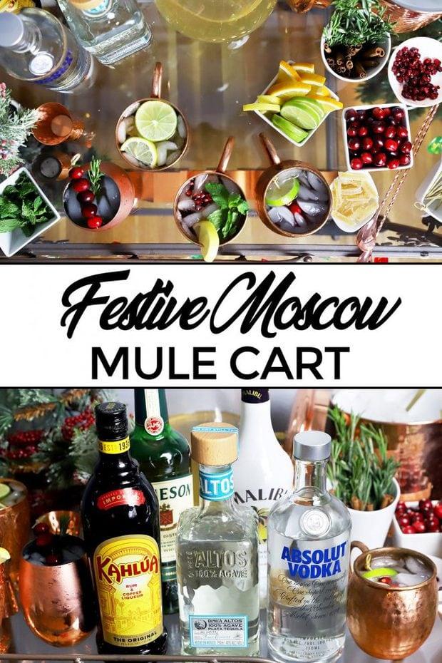 Festive Mule Bar Cart Pinterest Image