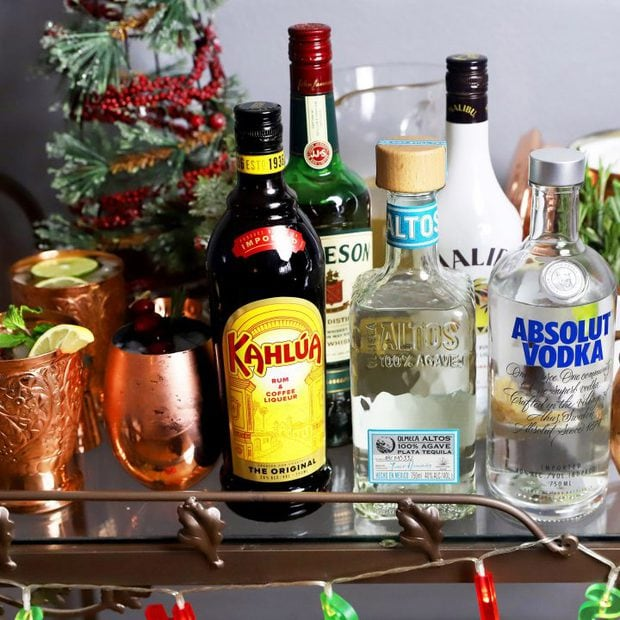 Thumbnail image for festive moscow mule cart