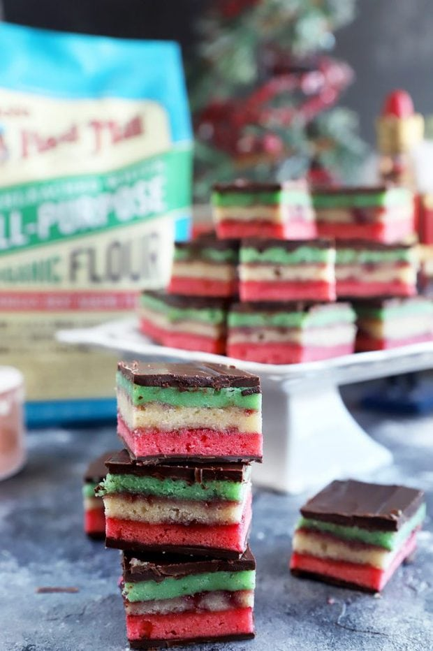 Photo of red white and green cookies