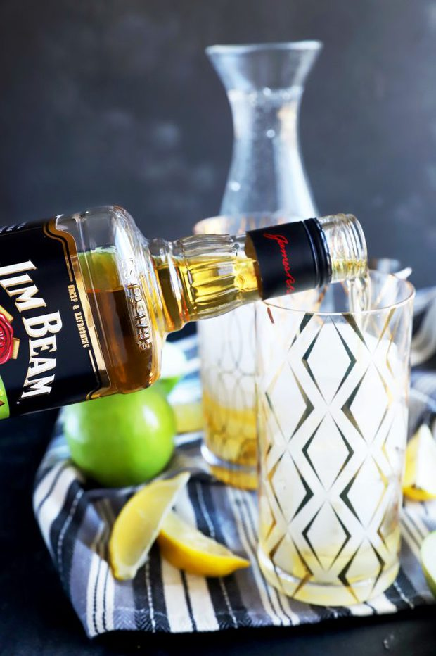 Photo of pouring Jim Beam Apple