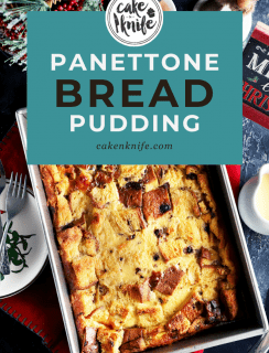 Pinterest Image for Panettone Bread Pudding