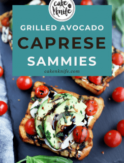 Grilled Avocado Caprese Sandwich Pinterest Photo