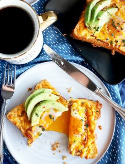 Avocado cheesy egg in a hole thumbnail recipe