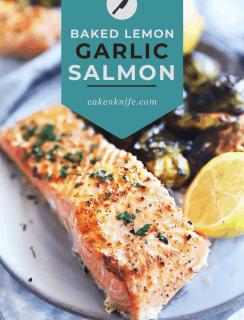 Baked Lemon Garlic Salmon Pinterest Photo