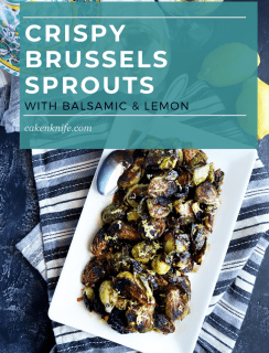 Crispy brussels sprouts Pinterest image