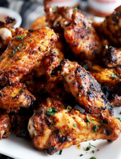 Dry rub wings on a platter thumbnail image