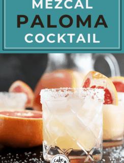 Pinterest image pin for mezcal paloma punch