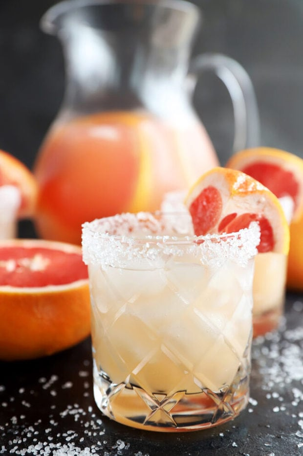 Grapefruit cocktail with tequila image