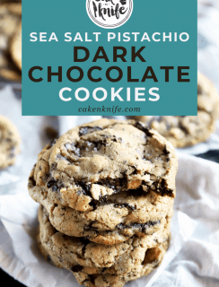 Sea Salt Pistachio Dark Chocolate Cookies Pinterest Image
