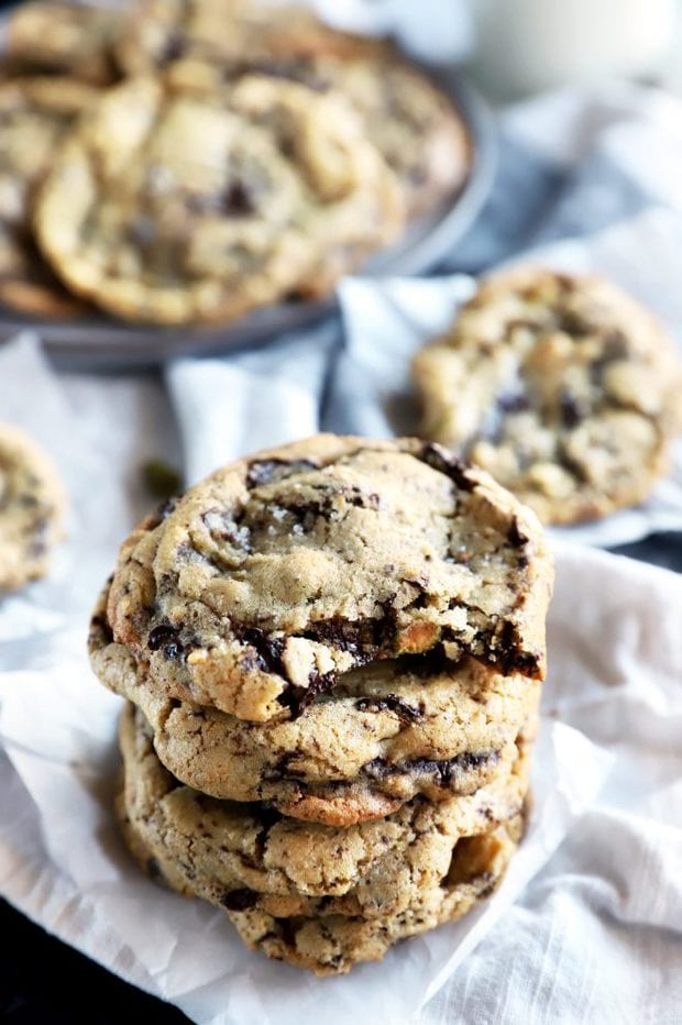 Stack of chocolate cookies image
