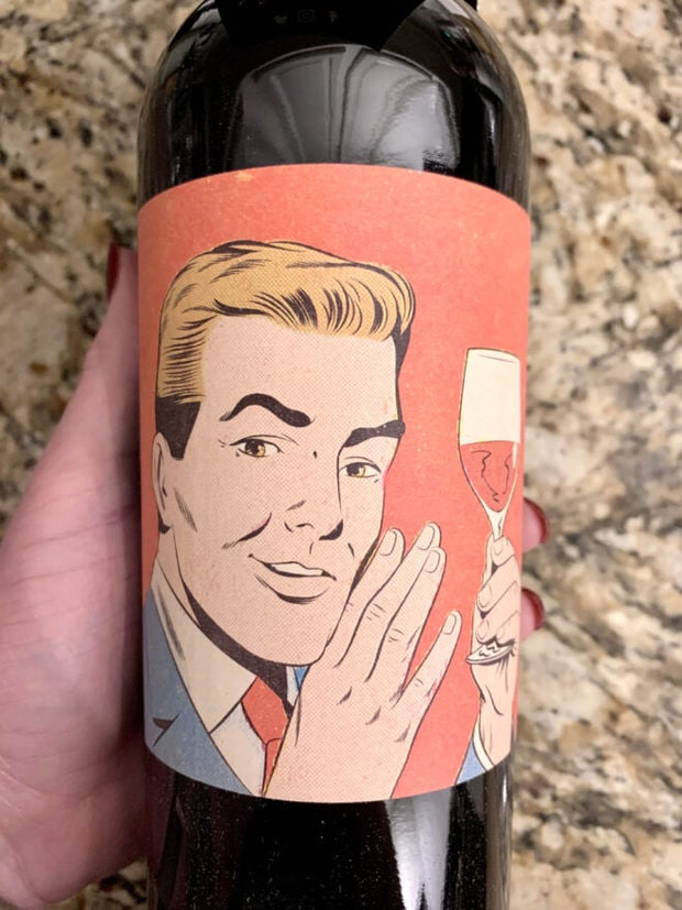Bottle of cabernet wine