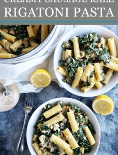 Creamy Rigatoni Pasta Pinterest Image