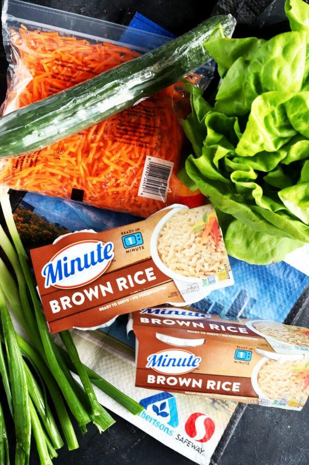 Ingredients for Korean ground turkey wraps photo