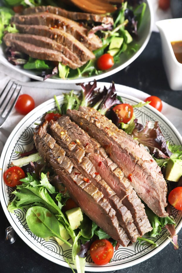 Miso marinated steak salad recipe