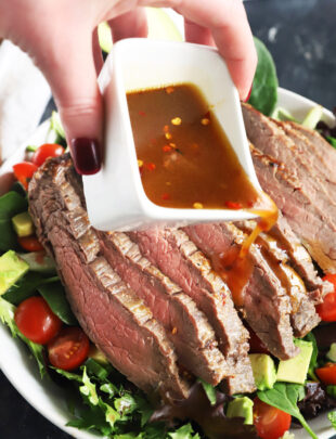 Miso marinated steak salad thumbnail image