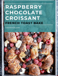 Raspberry Chocolate Croissant French Toast Bake Pinterest Picture