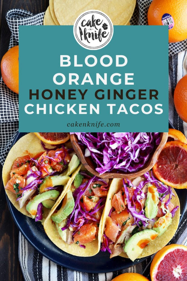 Blood orange chicken tacos Pinterest Image