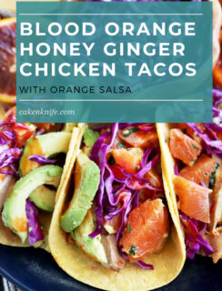 Blood orange honey ginger chicken tacos image Pinterest