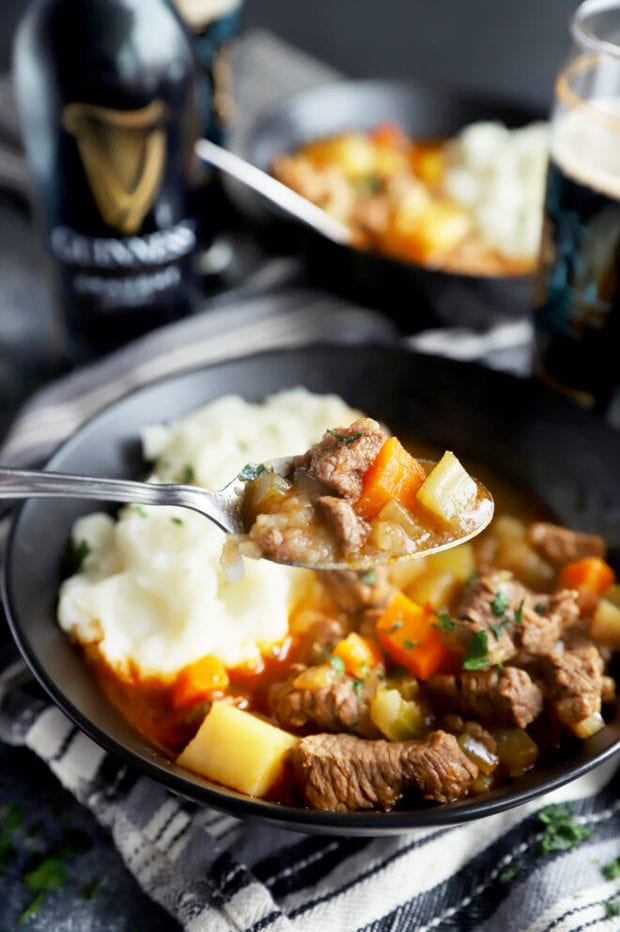 Spoonful of Instant Pot Irish beef stew photo