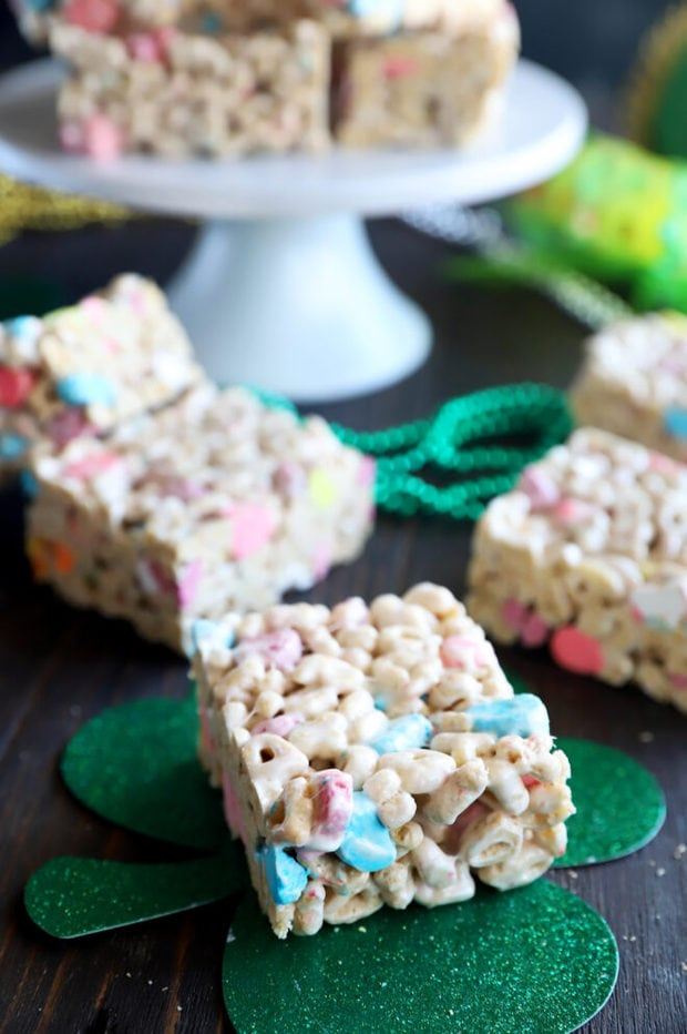 Cereal treats for St. Patrick's Day photo