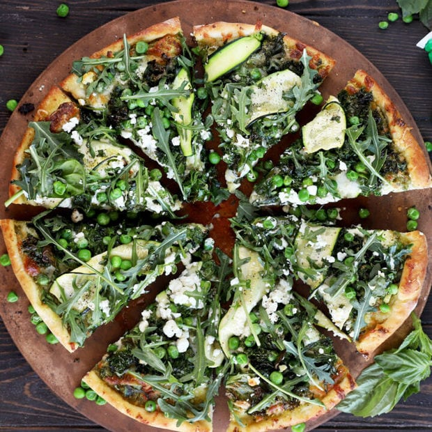 Pesto Greens Pizza