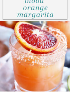 Spicy blood orange margarita Pinterest image